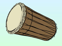 Tom Tom. Vector illustration of Tom percussion by hand drawing Royalty Free Stock Photo