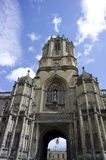 Tom Tower. Located at Oxford, UK.  Tom Tower is built over Tom Gate over Christ Church leading into Tom Quad Stock Photo