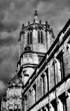 Tom Tower in Oxford low angle Royalty Free Stock Image