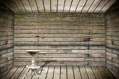 tom trägrungelokal för stol Arkivfoton