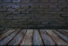 Tom trätabell- och suddighetsbakgrund av abstrakt framme av w Royaltyfria Foton