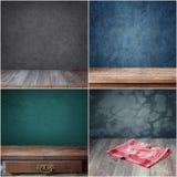 Tom trätabell, uppsättning av texturer Arkivfoton