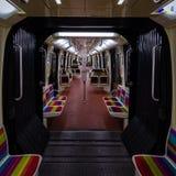 Tom tunnelbana Arkivfoto