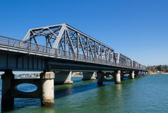 Tom Uglys Bridge is pratt truss spans that cross the Georges River in southern Sydney, in the state of New South Wales, Australia. The Tom Uglys Bridge is pratt royalty free stock photography