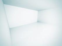 Tom utrymmebakgrund för vitt rum Arkivfoton