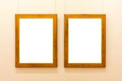 Tom vägg för Art Museum Isolated Painting Frame garnering inomhus Fotografering för Bildbyråer