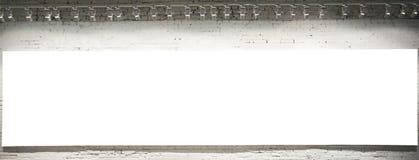 tom väggwhite för baner Fotografering för Bildbyråer