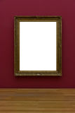 Tom vit Art Gallery Frame Picture Wall vit samtida Mo royaltyfri foto