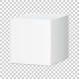 Tom vit asksymbol för låda 3d Illust för vektor för askpackemodell royaltyfri illustrationer