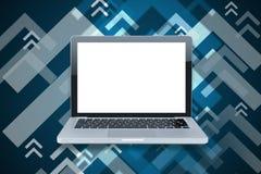 Tom vit bärbar dator Royaltyfri Foto