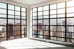 Tom vit modern interior Fotografering för Bildbyråer