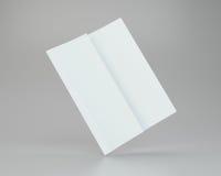 Tom vit uppvecklat skrynkligt pappers- A4 framförande 3d Royaltyfria Bilder