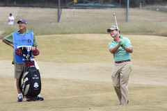 Tom Watson and Caddie royalty free stock images