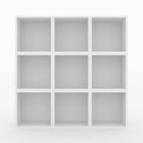 tom white för bokhylla Royaltyfri Foto