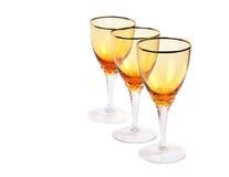 tom wine för exponeringsglas tre Arkivbild