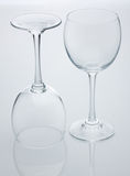 tom wine för exponeringsglas två Arkivbilder