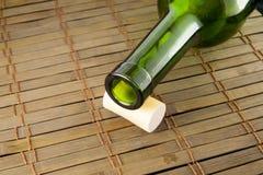 tom wine för flaskkork Royaltyfri Foto