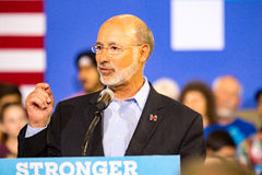 Tom Wolf at Political Rally Royalty Free Stock Images