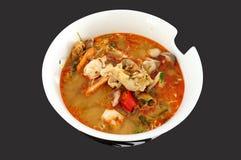 Tom Yam, comida tradicional tailandesa, sopa picante Fotografía de archivo libre de regalías