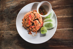 Tom Yam Fired Rice. Royalty Free Stock Photos