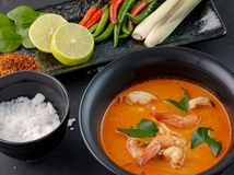 Tom Yam Goong. Delicious spicy Thai prawn dish Royalty Free Stock Image