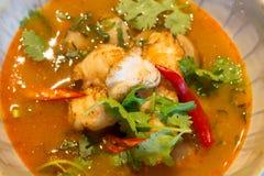 Tom Yam Goong - soupe thaïlandaise à crevette Photo stock