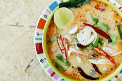 Tom Yam Kung (cucina tailandese) Immagini Stock