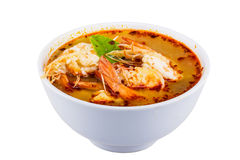 Tom yam kung cup isolated Stock Photo