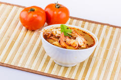Tom yam kung cup Thai food Royalty Free Stock Images