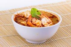 Tom yam kung cup Thai food Stock Photography