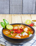 Tom Yam Kung. Soup ,Thai Food Royalty Free Stock Photo