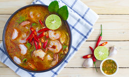 Tom Yam Kung. Soup ,Thai Food Royalty Free Stock Photos