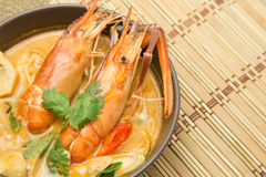 Tom yam kung soup. Thai food Stock Image