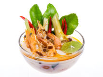 Tom yam kung soup from Thailand Royalty Free Stock Photo