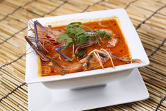 Tom yam kung , sour and spicy of shrimp soup Royalty Free Stock Photos