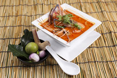 Tom yam kung , sour and spicy of shrimp soup Stock Photography