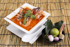Tom yam kung , sour and spicy of shrimp soup Royalty Free Stock Photo