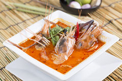 Tom yam kung. Sour and spicy of shrimp soup / Thai Food Stock Images