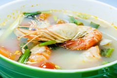 Tom Yam Kung (Thai cuisine). Spicy soup with shrimp Stock Photography
