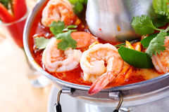 Tom Yam Kung, a Thai traditional spicy Royalty Free Stock Photos
