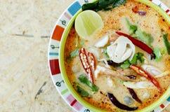 Tom Yam Kung (thailändsk kokkonst) Arkivbilder