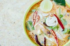Tom Yam Kung (thailändsk kokkonst) Royaltyfria Foton