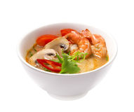 Tom Yam Kungs-Suppe lokalisiert Stockbilder