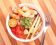 Tom Yam Mee Hoon Royalty Free Stock Photography