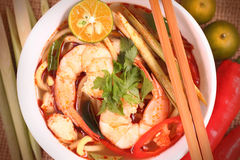 Tom Yam Noodle Photo libre de droits