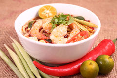 Tom Yam Noodle Photographie stock