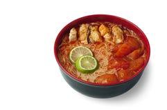 Tom yam noodles stock photo