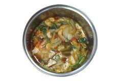 Tom Yam, nourriture traditionnelle thaïlandaise, soupe épicée Images stock