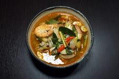 Tom Yam, nourriture traditionnelle thaïlandaise, soupe épicée Image libre de droits