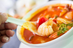 Tom Yam Seafood Photo libre de droits